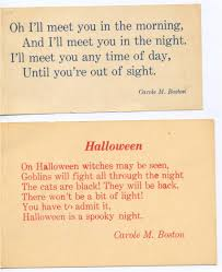 Halloween Card Poems About Cbw Carole Boston Weatherford