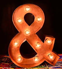 metal ampersand marquee sign home decor u0026 lighting top line