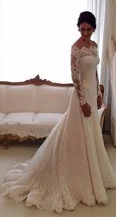 wedding dresses the shoulder sleeves 2018 lace sleeves wedding dresses shoulder a line