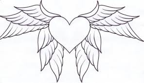 heart with wings coloring pages free printable coloring page