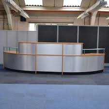 Large Reception Desk Veneer Silver Modern Large Reception Desk