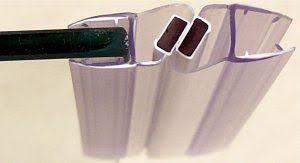 byretech easi fit 2m in line magnetic shower door seals pair 4