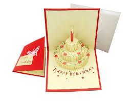 happy birthday cake pop up creative gift greeting card 30x15cm ebay