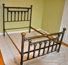 image old metal bed frame how to refinish old metal bed frame