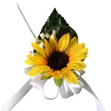 sunflower corsage colorful artificial flower wedding bouquet corsage daisies and
