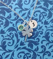 Single Initial Monogram Necklace 81 Best For Luck Images On Pinterest Good Luck Clovers And Leaf