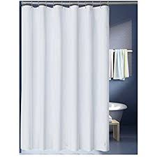 White Shower Curtain Amazon Com Interdesign Waterproof Mold And Mildew Resistant