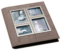umbra photo album umbra horizon metal and suede photo album holds 104 4 x 6 photos
