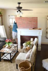 How To Lay Brick Fireplace by Diy Faux Brick Fireplace Craft O Maniac