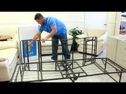 bi fold metal bed frame pragma bed youtube