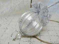 White Bows For Tree Details About Handmade Tree Ornament Eggshell White Trim