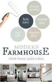 Our Inviting Living Room Benjamin by Our House Modern Farmhouse Paint Colors Farmhouse Paint Colors