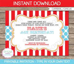circus invitation template aqua circus invitations