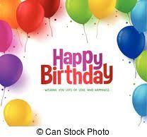 clipart of happy birthday balloons 3d background happy birthday