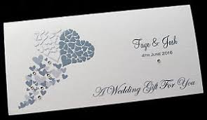 wedding gift of money personalised wedding day money voucher gift card wallet envelope