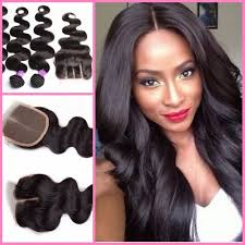 ali express hair weave brazilian hair weave 3 bundles with lace closure hair weft with