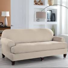 2 piece t cushion sofa slipcover t cushion sofa slipcover tailor fit 2 piece t cushion sofa