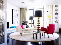 Zebra Side Table Living Room Funky Eclectic Living Rooms With Pink Upholstered