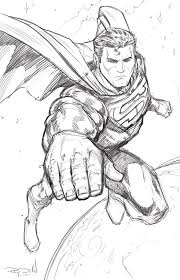 superman drawing coloring pages pictures photos images comic