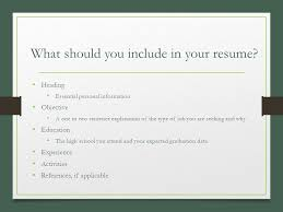 Resume Expected Graduation Pieces Of A Resume Business Management Ppt Download