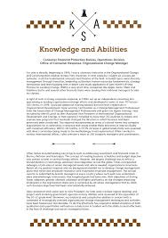 resume skills and abilities exles knowledge skills and abilities exle