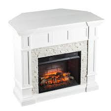 Infrared Electric Fireplaces by Merrimack Corner Convertible Infrared Electric Fireplace White