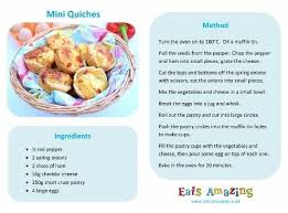 printable recipes free mini quiches recipe free printable easy recipe for kids great