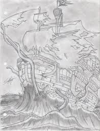 ghost pirate ship tattoo sketch photo 2 real photo pictures