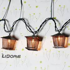 Dragonfly String Lights by Amazon Com Lidore 10 Counts Vintage Bronze Iron Nets Lanterns