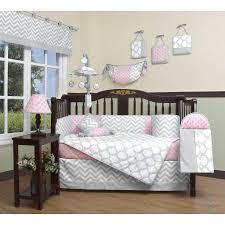 Geenny Crib Bedding Geenny Boutique Baby 13 Crib Bedding Set Salmon Pink Gray