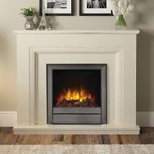almond stone electric fireplace suite