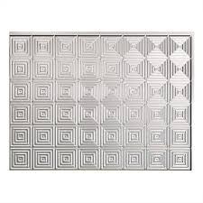 Decorative Metal Sheets Home Depot Fasade 24 In X 18 In Traditional 1 Pvc Decorative Backsplash