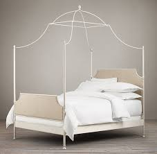 Iron Canopy Bed C Campaign Fabric Iron Canopy Bed