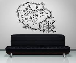 amazon com vinyl wall decal sticker treasure map island os aa402s