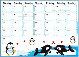 printable calendar 2016 etsy calendar february 2016 printable valentine winter planner
