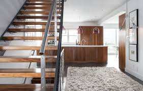 modern stair treads staircase modern with modern home glass shade