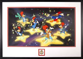 woody woodpecker 50th framed animation cel presentation