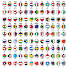 World Map Country Flags World Map With Flags Of Countries Royalty Free Vector Clip Art
