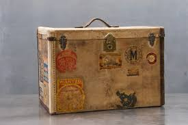 old 19th century petite steamer trunk 20th century vintage