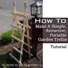 how to make a simple attractive portable garden trellis