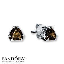 smoky quartz earrings jared pandora earrings smoky quartz sterling silver