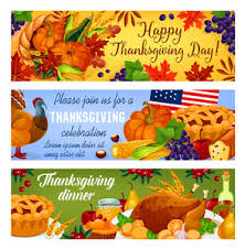 thanksgiving day vector turkey banner royalty free stock image