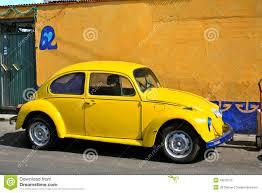 volkswagen yellow yellow vintage beetle volkswagen stock photography image 18010312