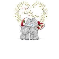 sister u0026 partner christmas card me to you tatty teddy bear