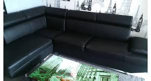 superbe canapé d angle croûte de cuir de vachette occasion caen