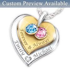 personalized necklaces for couples couples birthstone jewelry bradford exchange