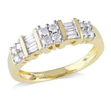 baguette diamond band miadora 14k yellow gold 1 2ct tdw baguette diamond anniversary