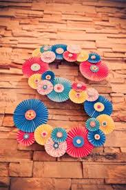 paper fan circle decorations caign style dresser ikea malm makeover crafty fans and dresser