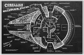 Millennium Falcon Floor Plan by Amazon Com Vintage Patent Star Wars Millennium Falcon Patent