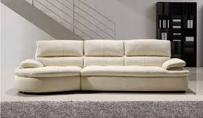 Ascoli White Leather Sofa  Seater Modern Style Delux Deco - 4 seat leather sofa
